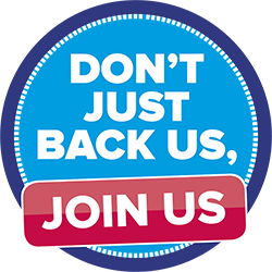 Don't Just Back Us - Join Us!